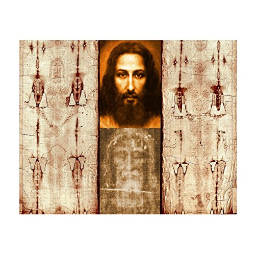 Hispanic World The Shroud of Turin Mandylion Sudarium Holy Face Jesus Christ (16x20)