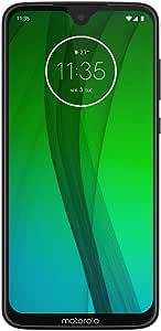 "Motorola Moto G7 (64GB, 4GB RAM) Dual SIM 6.2"" 4G LTE (GSM Only) Factory Unlocked Smartphone International Model XT1962-6 International Version No Warranty"