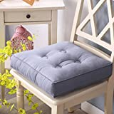hxxxy Thick soft square cushion,Removable Tatami mats Floor mat Window mat Back cushion Chair cushion Removable Room Yoga Office Car-gray 40x40cm(16x16inch)