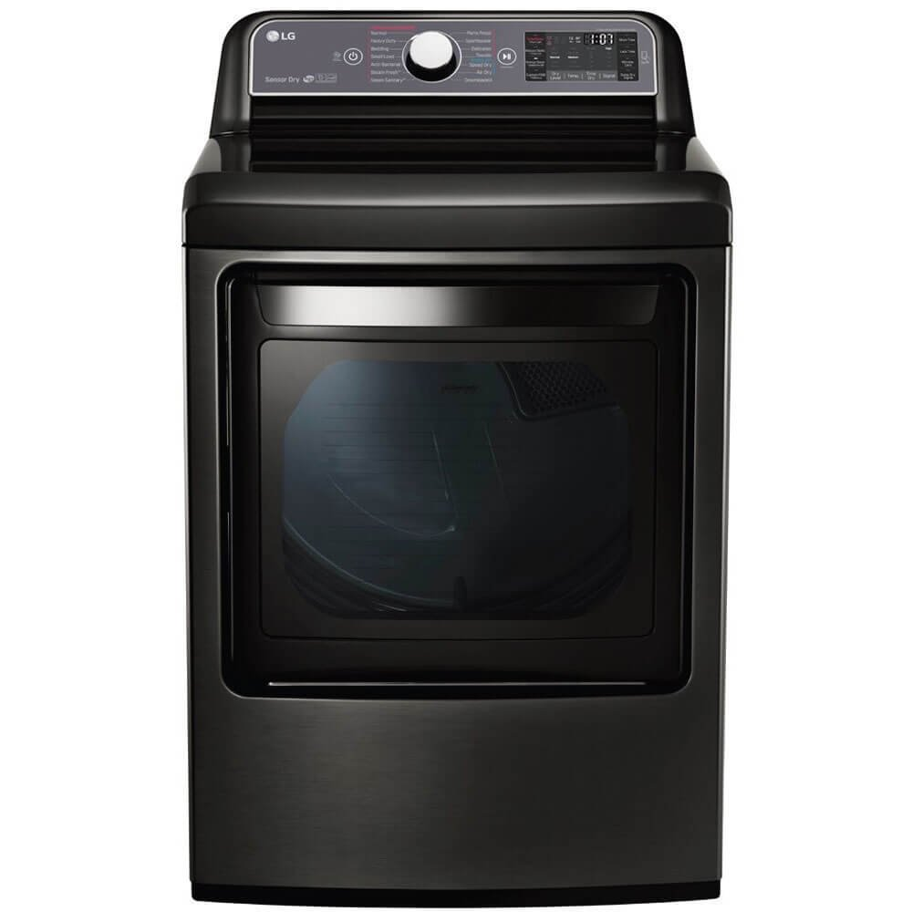 LG 7.3 Cu. Ft. Black Stainless Steel Electric Dryer