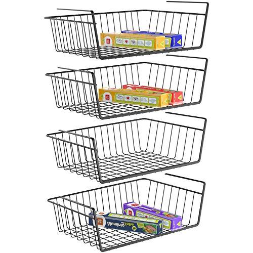 Under Shelf Basket, Pantry Organization and Storage Non Rust Wire Storage Basket for Pantry Cabinet Closet Desk…