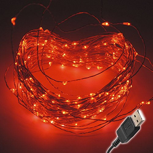Red Led Christmas Lights With Red Wire