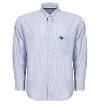 Nantucket Brand Clothing Mens Logo Button Down Sport Shirt, Striped