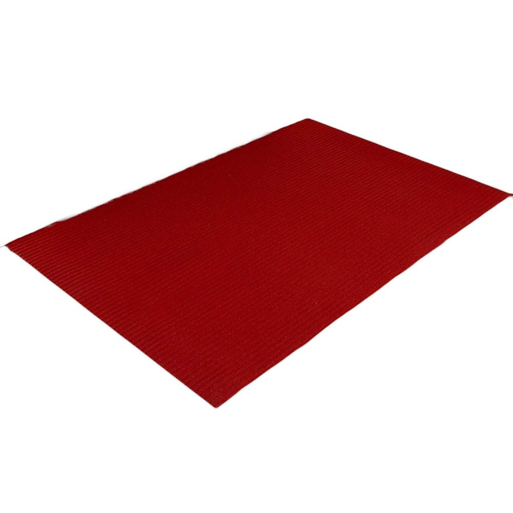 RED 100x140cm JIAJUAN Large Doormat Inside Entrance Non Slip Water Absorption Cuttable Boot Scraper Floor Mat Home Hotel, 5mm, 5 Styles, 10 Sizes (color   RED, Size   100x140cm)