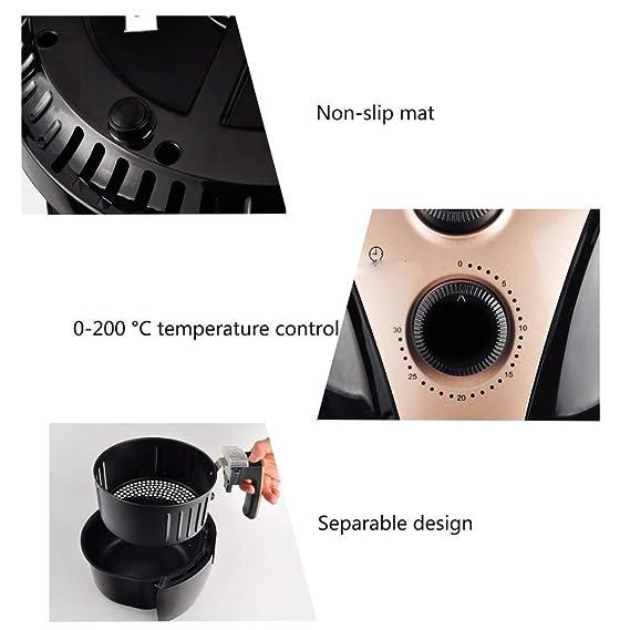 Freidora de aire, freidora eléctrica con pantalla táctil inteligente para el hogar sin humo de aceite y fábrica de máquinas para freír papas de gran ...
