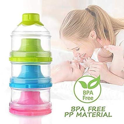 Dispensador de leche en polvo para fórmula para bebés, caja de leche portátil para leche