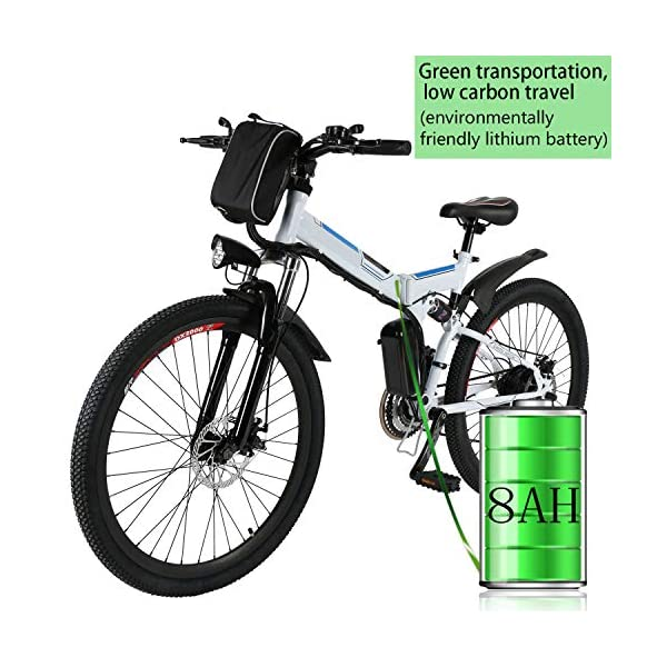 Bunao Bicicletta Elettrica City Bike Pieghevole a Pedalata Assistita, Ruote 20'', velocità 25km/h, Mileage 35-70km, Nero 1 spesavip