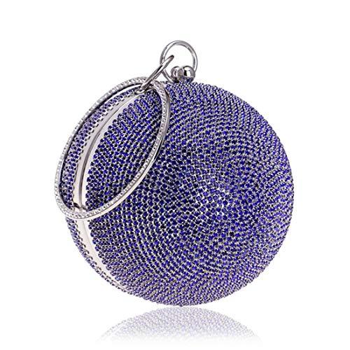 forma donna Per per Houyazhan palla Borsa fine la cocktail cocktail colore da Diamante Danza a nuziale sera argento di Blu Pochette da cerimonia da wzzqfvI