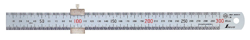 Shinwa 76752 300mm Metric Steel Rule With Ruler Stop by tyzacktools juritan-0018396305-shinwa-0442