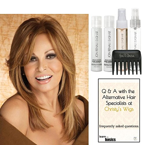 Bundle - 7 items: Bravo by Raquel Welch Human Hair Wig, 15 Page Christy's Wigs Q & A Booklet, Luxury Shampoo & Conditioner, Heat Treat Thermal Spray, Smooth Treatment Mist, & Wide Tooth Comb (Color Selected: ) Color Selected: R9HH by Raquel Welch & Christy's Wigs