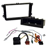Double-DIN and Single-DIN Installation Kit for Installation of Car Radio and Navigation Systems with Radio Fascia and Quadlock Adapter-