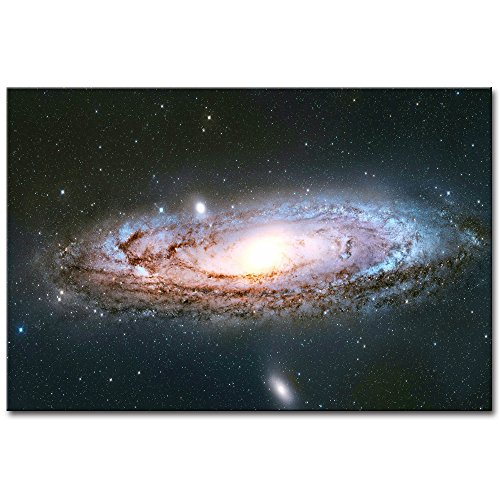 DVQ ART-Framed Andromeda Galaxy Canvas Print Painting Modern Special Wall Art Picture for Living Room Decor Ready to Hang 1 PCS (16x24inch(40x60cm))