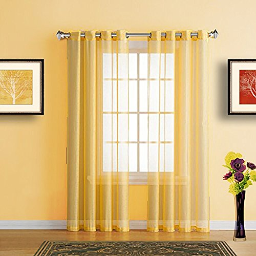 yellow curtains for windows - 7