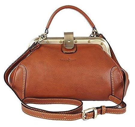 1e06a9490ea Gianni Conti Fine Italian Small Leather Tan Gladstone Grab Shoulder Bag  913317: Amazon.co.uk: Luggage
