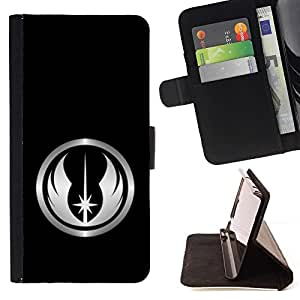 DEVIL CASE - FOR Apple Iphone 6 PLUS 5.5 - Space Crest - Style PU Leather Case Wallet Flip Stand Flap Closure Cover