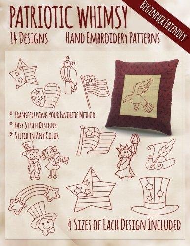 Patriotic Whimsy Hand Embroidery Patterns