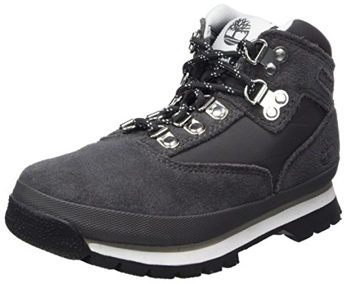 Timberland Kids Euro Hiker Leather and Fabric Chukka Boots, Grau (Forged Iron), 32 EU