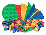 Classic Big Briks Baseplates by Strictly Bricks | 119 Brick and Baseplate Pack | 100% Compatible with All Major Large Brick Brands | Large Pegs | Blue, Green, Red, and Yellow