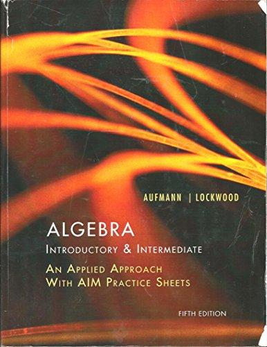 Algebra Introductory & Intermediate Fifth Edition