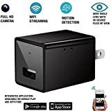 Wifi Hidden Camera , AC Wall Charger Nanny Spy Camera With Motion Detection ,1080P HD P2P USB Camera , Supports IOS , iPhone, Android App ,Wireless  Remote Livestream Video Cam For Home Security