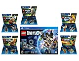 Lego Dimensions Starter Pack + Lord Of The Rings Legolas Gimli Gollum + Legend Of Chima Eris and Cragger Fun Packs Playstation 4 PS4