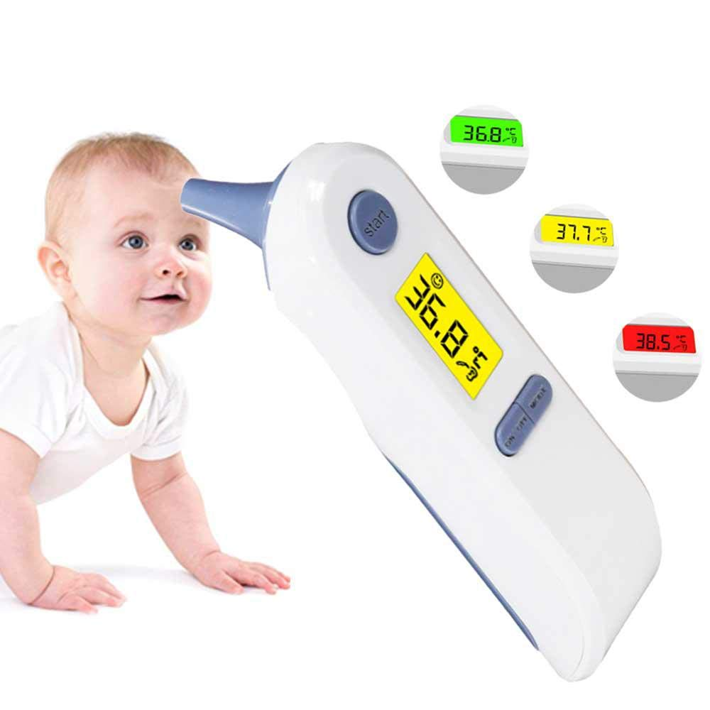 Teepao Best Baby Thermometer 2018 Newest Design Infant No Contact Tympanic Fever Scan Lens Technology Thermometer CE and FDA Approved Digital Infrared Forehead /& Ear Thermometer for Kids