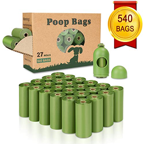 (Yingdelai Dog Poop Bag(540 Counts), Biodegradable Dog Waste Bags with 1 Dispenser, eco-Friendly Leak-Proof Pet Waste Bags for Doggy)