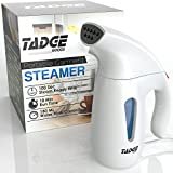 Tadge Goods Travel Steamer For Clothes Wrinkle Remover – 180ml Portable Hand Held Vapor Iron Garment Steamer – Press, Sterilize, Clean Fabric Tops, Shirts, Pants, Suits, Curtains – Fast Heat Up