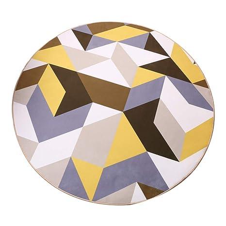 Brilliant firm Alfombras de Pasillo Alfombra Alfombra Moderna y Minimalista geométrica IKEA Estudio Alfombra Redonda Dormitorio