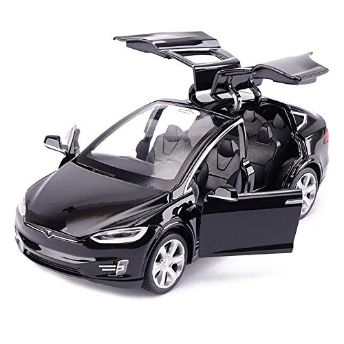 ANTSIR Car Model X 1:32 Scale Alloy diecast Pull Back Electronic Toys with Lights and Music,Mini Vehicles Toys for Kids Gift (Black)