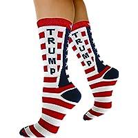 Republicano Declaración calcetines Donald Trump Bandera Americana Patrón Unisex adulto Crew Moda novedad calcetines