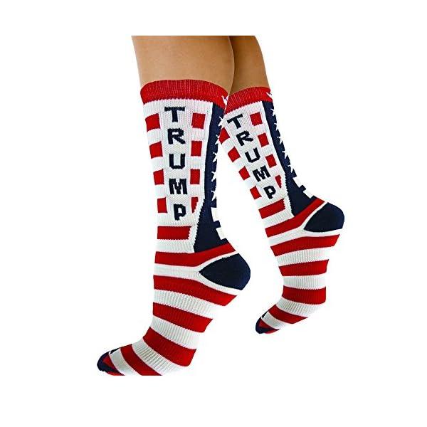 Republican-Statement-Socks-Donald-Trump-American-Flag-Pattern-Unisex-Adult-Crew-Fashion-Novelty-Socks