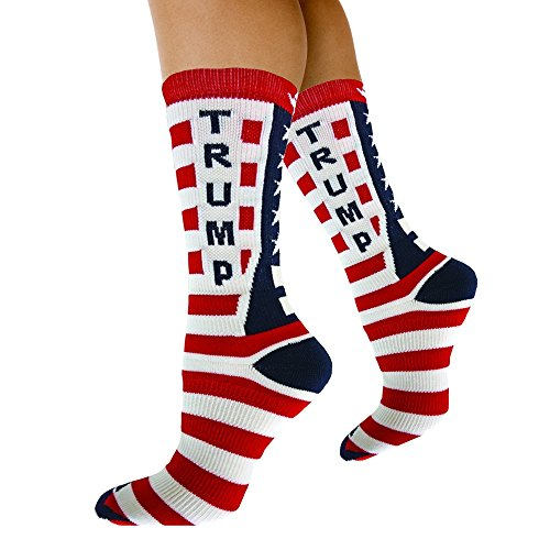 Republican-Statement-Socks-Donald-Trump-American-Flag-Pattern-Unisex-Adult-Crew-Fashion-Novelty-Socks