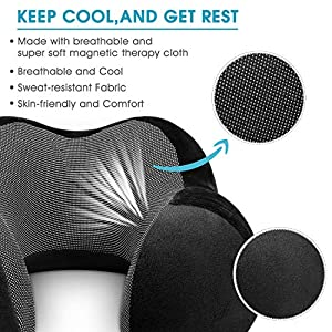 HOMEIDEAS Travel Pillow 100% Pure Memory Foam Neck Pillow for Airplanes - Soft & Comfortable & Washable Cover, Airplane Travel Pillow Kit with 3D Contoured Eye Masks, Earplugs and Travel Bag(Black)