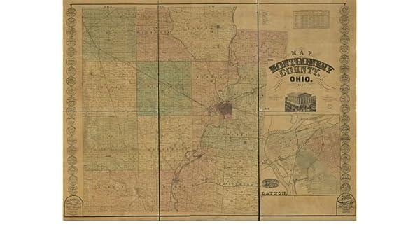 Amazon Com 1857 Map Of Montgomery County Ohio Size 18x24