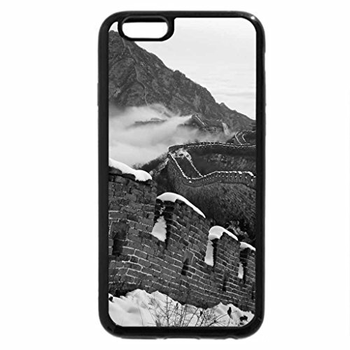 iPhone 6S Plus Case, iPhone 6 Plus Case (Black & White) - beautiful great wall of china in winter