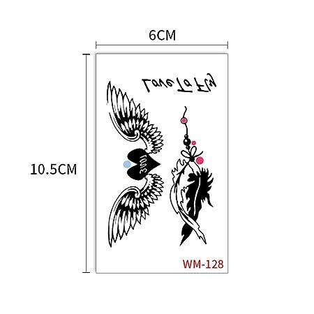 zgmtj Etiqueta engomada del Tatuaje de Moda Fresca WM128 60x105mm ...