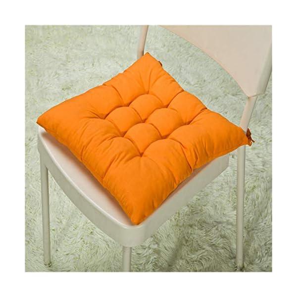 AGDLLYD Cuscini di Seduta Cuscino Sedia 40x40x5cm per Interno ed Esterno - Molti Colori - Imbottitura Spessa Cuscino… 5 spesavip