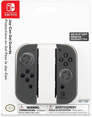 Nintendo Switch Comfort Grip Joy Con Grey Gel Guards by PDP