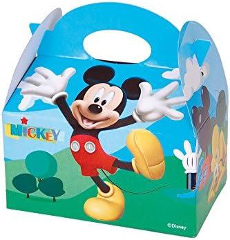 ALMACENESADAN 0661, Pack 4 cajitas de Carton para chuches Disney Mickey Mouse, para Fiestas y cumpleaños: Amazon.es: Juguetes y juegos