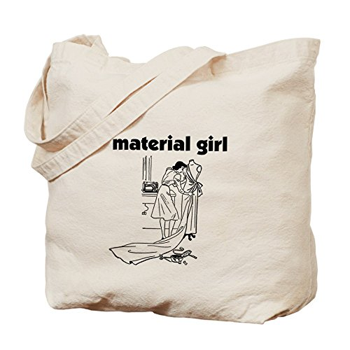 CafePress–Material Girl–Cucito–Borsa di tela naturale, panno borsa per la spesa