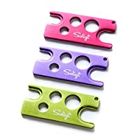 SOLIGT 3-Pack Multi-color Metal Essential Oil Key Tool (Lavender Purple,Rose Red,Basil Green), An universal opener and remover for roller balls and caps on most bottles