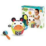 Earlyears E00394 Zebra Jingle Drum – Soft, Plush Drum and Stick with Jingle and Rattle Sounds