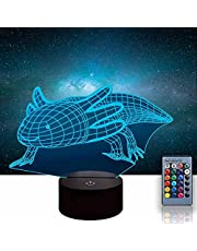 Axolotl 3D Glow LED Nachtlampje Inspiratie 16 Kleuren Optische Illusie Lamp Touch Sensor voor Thuis Party Festival Decor Geweldig Gift Idee