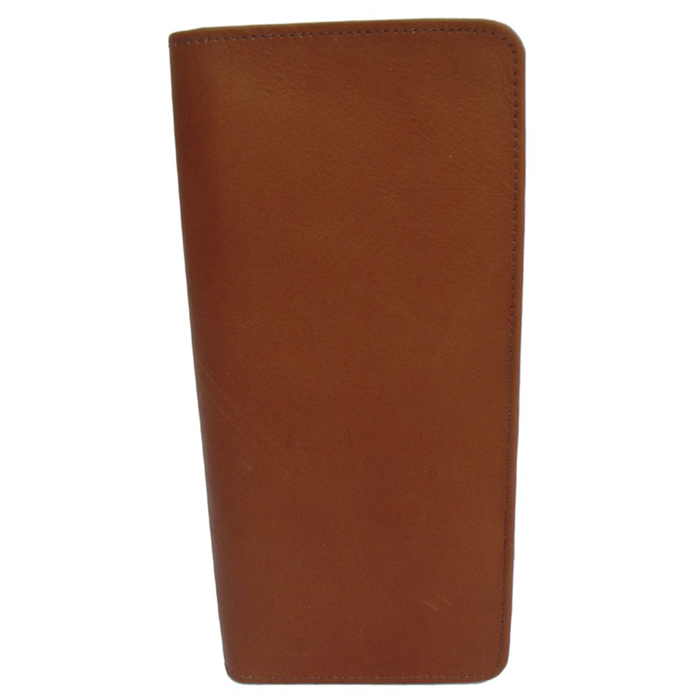 Piel Leather Passport Ticket Holder, Saddle, One Size by Piel Leather