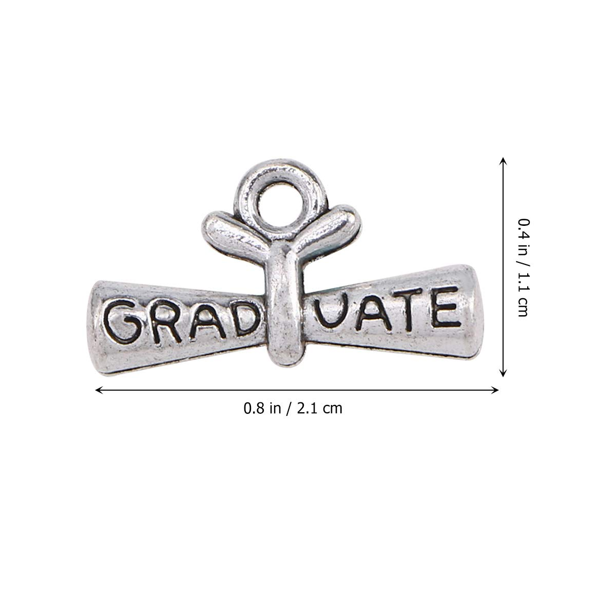 BESTOYARD 100pcs graduaci/ón Charm Colgantes Graduado Colgante Charm con Diploma Colgante graduaci/ón Colgante de Regalo para Pulseras Llavero Collar joyer/ía decoraci/ón