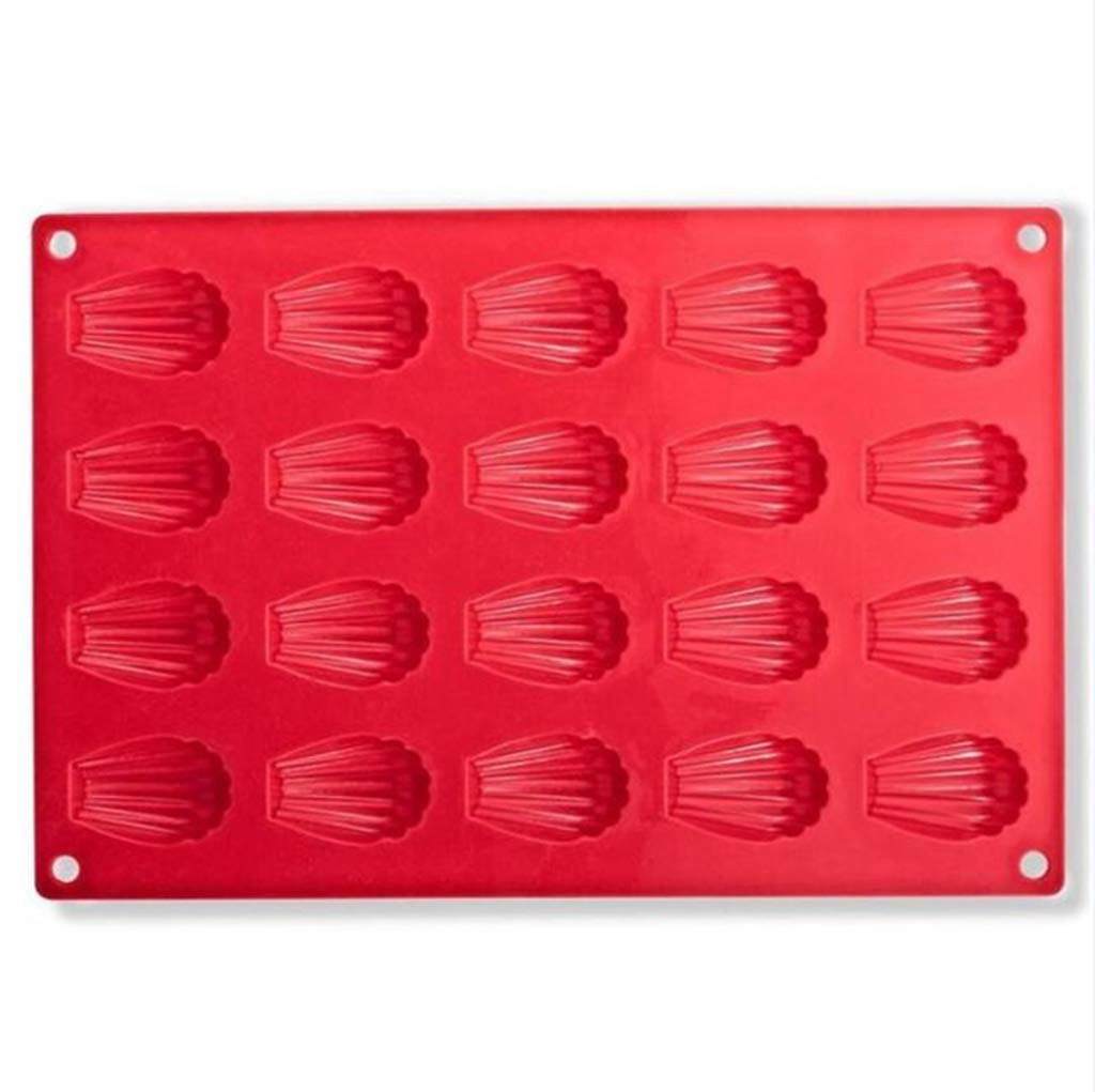 DIY Silicone Madeleines Mold Candy Pudding Mould Biscuit Pastry Bakeware Mold Tray Mini Muffin Cake Decoration Tool