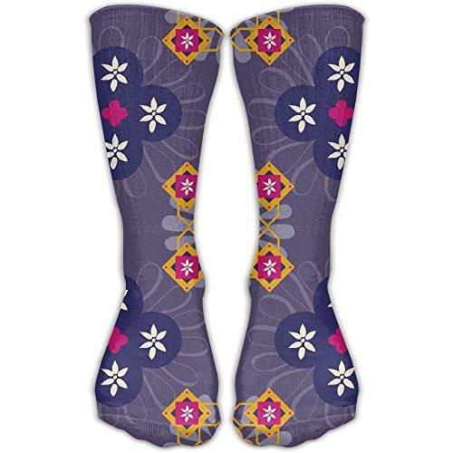 (Morocco Flowers Men Hip-hop 3D Print Sport BascketBall Thicken Long Socks Unisex)