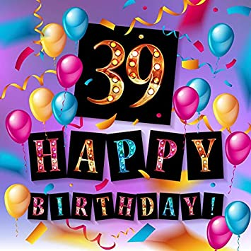 Amazon.com: Fondo colorido para adulto 39º cumpleaños fiesta ...