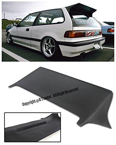 For 88-91 Honda Civic EF9 3Dr Hatchback J's Racing Style Brake Light Open Rear Top Roof Lip Wing Spoiler 1988 1989 1990 1991 88 89 90 91 JDM ()
